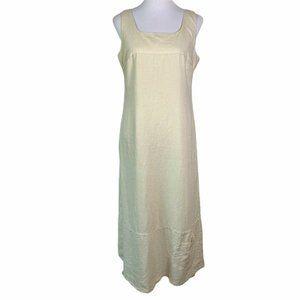 Ronen Chen Beige Linen Sleeveless Maxi Dress